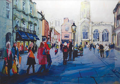 Church Painting - St Helen Square York by Neil McBride