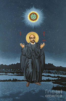 Triptych Painting - St. Ignatius In Prayer Beneath The Stars 137 by William Hart McNichols