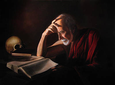 Catholic For Sale Painting - St. Jerome by Eric  Armusik