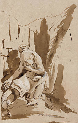 Christianity Drawing - St. Jerome  by Giovanni Battista Tiepolo