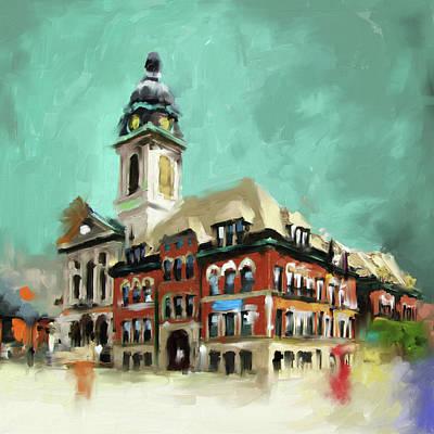 Historic Buildings Painting - St. John Cantius 523 1 by Mawra Tahreem