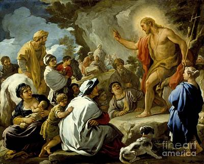 Baptist Painting - St. John The Baptist Preaching by Celestial Images
