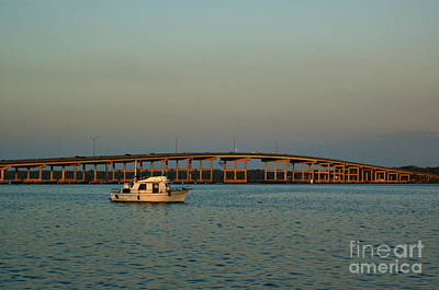 Palatka Bridge Photograph - St. Johns River At Palatka by Kathi Shotwell