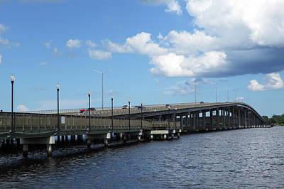 Palatka Bridge Photograph - St Johns River Bridge by Roger Epps