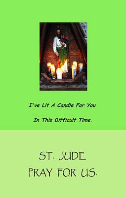 St. Jude Card Print by Mary Ellen Frazee