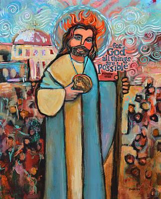 Pentecost Painting - St. Jude by Jen Norton