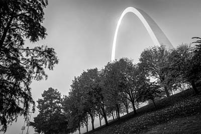 St. Louis Photograph - St. Louis Arch Behind The Trees by Gregory Ballos
