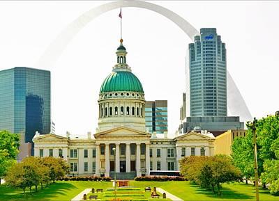 St. Louis Mixed Media - St Louis Capitol by Bob Pardue