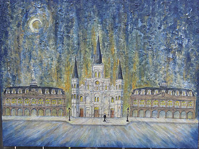Painting - St. Louis  Cathedral And Old Government Buildings by Catherine Wilson