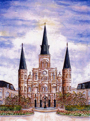 Painting - St. Louis Cathedral Daytime by Catherine Wilson