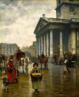 Square Painting - St Martin In The Fields by MotionAge Designs