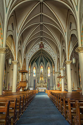 Windows Photograph - St Mary's Painted Church by Joan Carroll