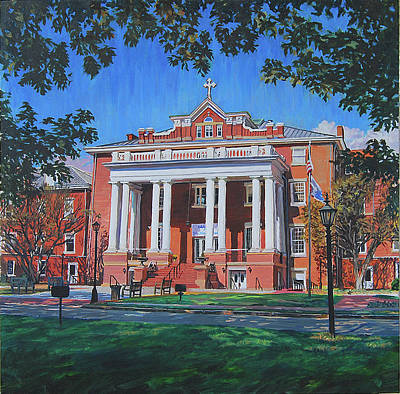 Education Painting - St Marys School by Tommy Midyette
