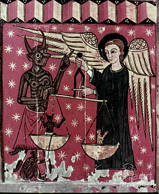 St. Michael Weighing Souls Print by Granger