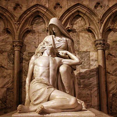 Sad Digital Art - St Patrick's Pieta II by Jessica Jenney