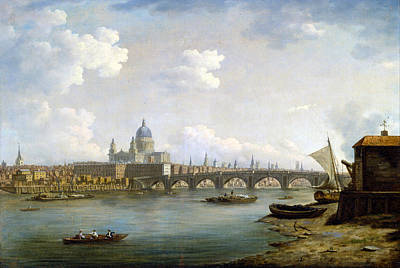 William Marlow Painting - St Paul's And Blackfriars Bridge by William Marlow