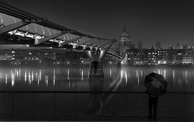 Water Reflections Photograph - St Pauls by Peter Davidson