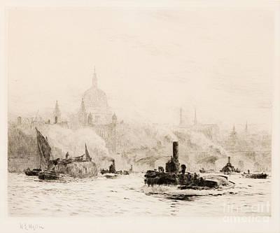 St Pauls Print by William Lionel Wyllie