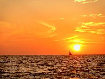 Boat Photograph - St. Pete Beach Sunset by Sandy Taylor