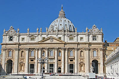 St. Peters Basilica Print by Allan Levin