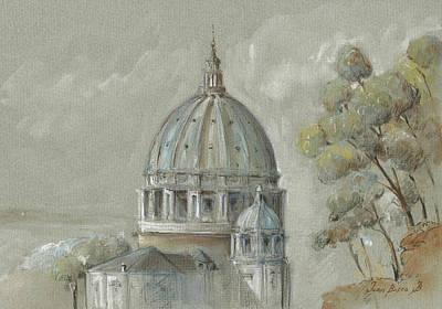 St Peter's Basilica Rome Print by Juan Bosco