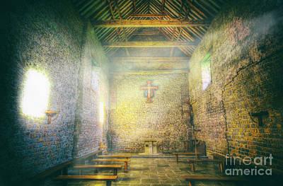 Essex Digital Art - St Peter's On The Wall Interior by Nigel Bangert