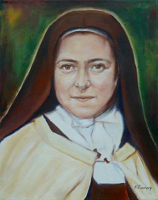 St. Therese Of Lisieux II Print by Sheila Diemert