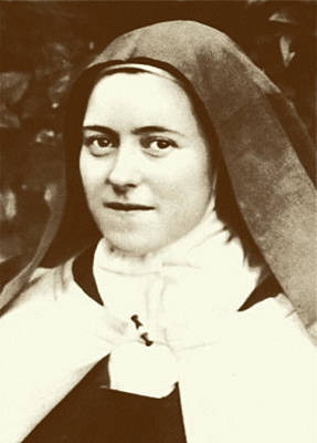 St. Therese Of Lisieux - The Little Flower Print by Christi Studio