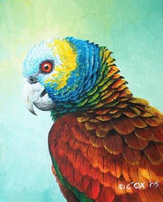St. Lucia Parrot Painting - St. Vincent Parrot by Christopher Cox