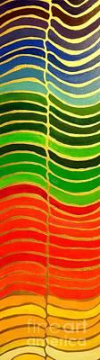 Stability Vertical Banner Print by Karen Jane Jones