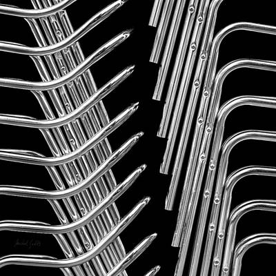 Abstract Photograph - Stack Chairs Skeleton by Michel Godts
