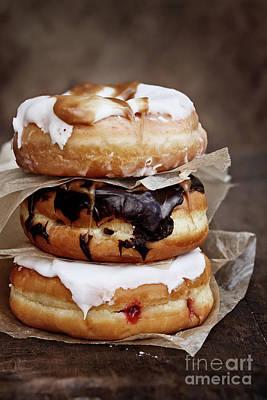 Stacked Donuts Print by Stephanie Frey