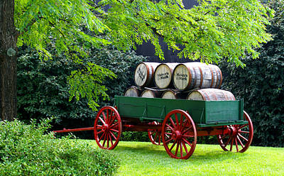 Wagon Photograph - Stacked In Time by Wayne Stacy