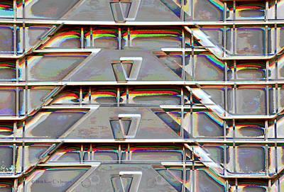 Storage Digital Art - Stacked Storage Crates Abstract by Kae Cheatham