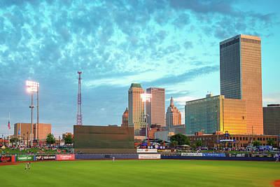 Landscapes Photograph - Stadium View Of The Tulsa Oklahoma Skyline by Gregory Ballos