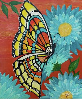 Butterfly Painting - Stained Glass Butterfly by Amanda Gervais