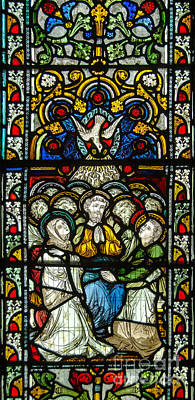 Pentecost Photograph - Stained Glass In Christ Chuch Cathedral Dublin by RicardMN Photography