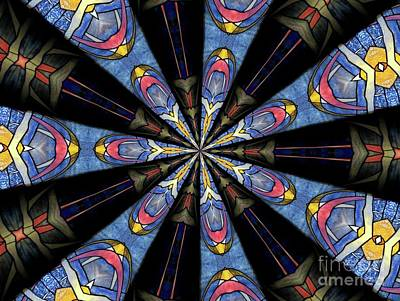 Stained Glass Kaleidoscope 28 Print by Rose Santuci-Sofranko