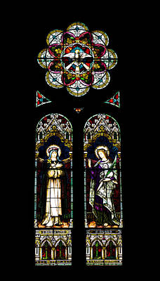 Religious Art Photograph - Stained Glass Of St. Joseph's Church - Macon, Georgia by Kim Hojnacki