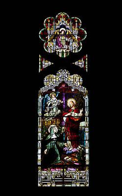Religious Art Photograph - Stained Glass Window - Church by Kim Hojnacki