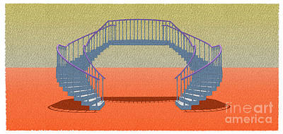Nyc Mixed Media - Stair 18 Classical Stair Escalera Seorial Abstract Art by Pablo Franchi