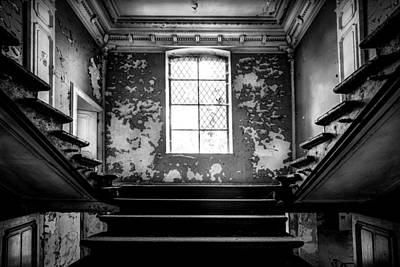 Staircase Abandoned Castle - Urban Exploration Print by Dirk Ercken