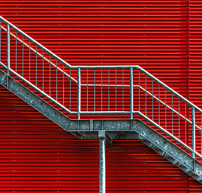 Staircase To The Red Room Print by Stefan Krebs
