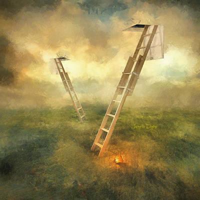 Wire Digital Art - Stairs To Heaven by Leonardo Digenio