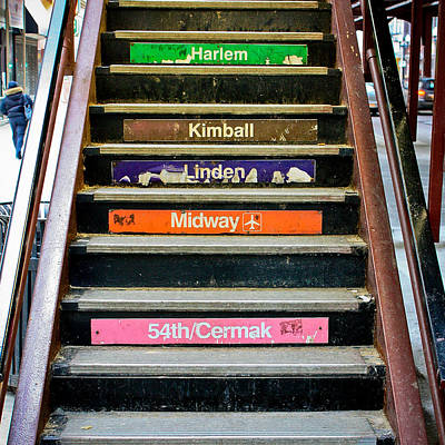 Downtown Stairs Photograph - Stairs To The Chicago L by Anthony Doudt