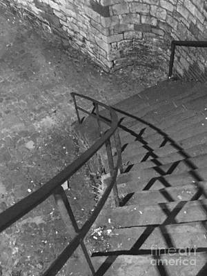 Photograph - Stairway In Black And White by Robin Lewis