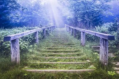 Stairway Into Heaven Print by Debra and Dave Vanderlaan