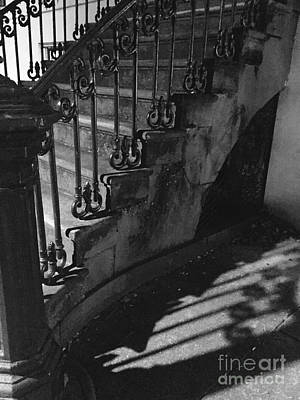 Photograph - Stairway Lll Black And White by Robin Lewis