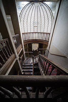 Haunted House Photograph - Stairway Of Abandoned Castle - Abandoned Building by Dirk Ercken