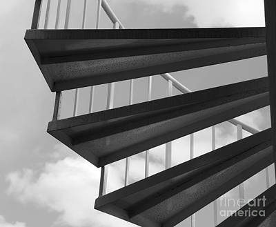 Black_white Photograph - Stairway To Heaven by Cathy Fitzgerald